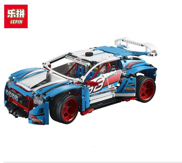 IN Stock DHL Lepin 20077 20001 Technic Series The Rally Car Set 42077 Building Blocks Bricks Educational Funny Children Toys technic 2 in 1 rally car lepin building blocks set bricks city classic model kids toys for children gift compatible legoe