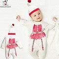Nova Nascidos Roupas de Bebê Animal Bonito Chapéu + Romper Do Bebê Conjunto Roupa Da Menina Infantil Baby Boy Rompers Macacões Recém-nascidos Do Bebê Roupa das meninas