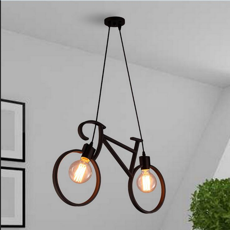 Children toy pendant lights creative bike art restaurant art bedroom fashion bar clothing store white black pendant lamps ZA creative iron triangle pendant lights personality bar living room bedroom clothing store lighting pendant lamps za fg328