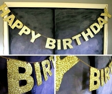 Sundry Gold Sparkly Glitter Banner Happy Birthday Bride to Be Wedding Showers Party Photo Backdrop