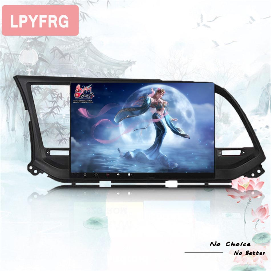 OCTA CORE android 9.0 car dvd <font><b>gps</b></font> player 1024*600 For <font><b>HYUNDAI</b></font> <font><b>ELANTRA</b></font> 2016 2017 18 <font><b>gps</b></font> navigation car stereo audio Head unit image