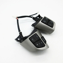 High quality For TOYOTA COROLLA 2007-2013 84250-02230 8425002230 Steering Wheel Audio Control Button Silver & Black Colour