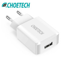 CHOETECH 5V 2A Single/Dual Port USB Wall Charger Universal SmartphoneTravel Charger Adapter For Samsung Galaxy S8/S7/S6(China)