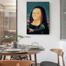 Fat Version Mona Lisa Decorates Painting Figure Lovely Make Fun Of Sitting Room Bedroom Picture Contracted Porch Wall Pictur
