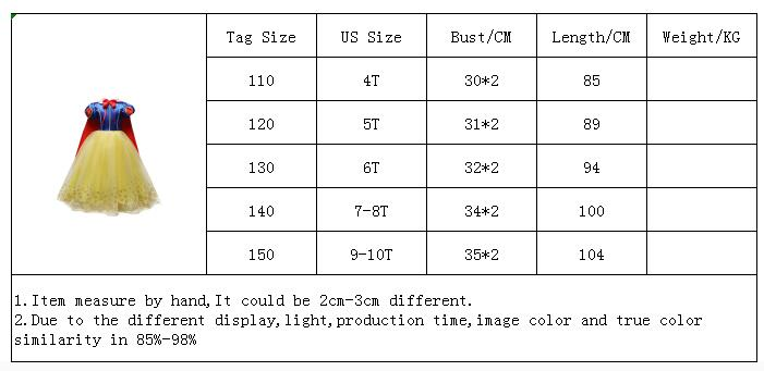 HTB1wf.vaULrK1Rjy1zbq6AenFXa3 2019 Children Girl Snow White Dress for Girls Prom Princess Dress Kids Baby Gifts Intant Party Clothes Fancy Teenager Clothing