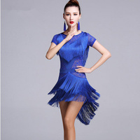 Latin Dance Costumes Women Salsa Dancewear Dance Costume Dresses Ballroom Competition Dresses Tango Adult Lace Fringe