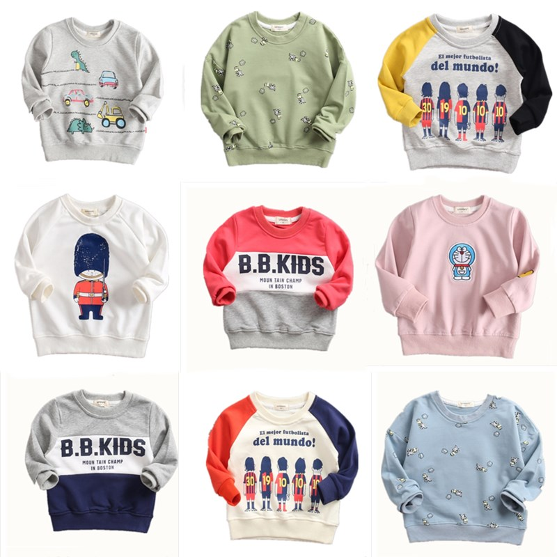The new children 39 s cotton sports sweater Trousers round neck long sleeve letters T shirt Special offer in T Shirts from Mother amp Kids