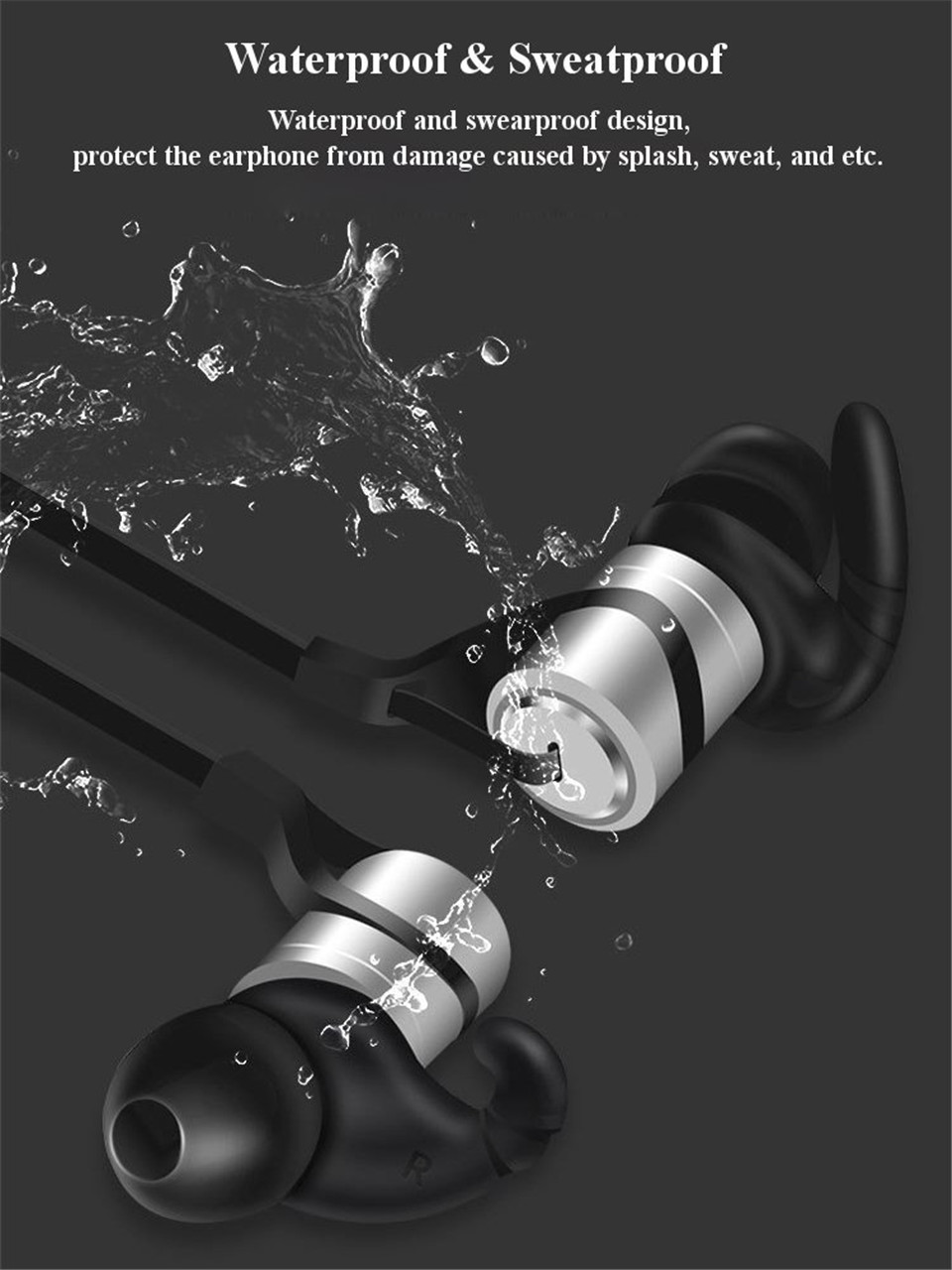 LEPHEE Sport Earphone Hifi Wireless Earphones Bluetooth Super Bass Earbuds with Mic Noise Cancelling Headset for Xiaomi Mi Phone
