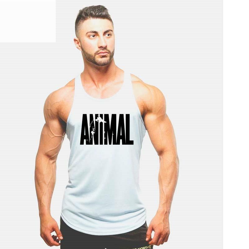 2018 New Running Men Vest Tanks Fitness Crossfit Vest Men Bodybuilding Stringer Tank Tops Gym Workout SportsWear Undershirt