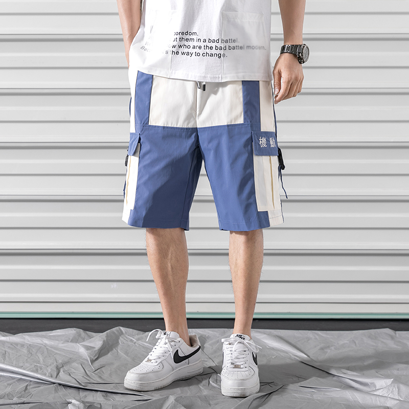 2019 Summer Style Men Side Buckle Buckle Cargo Shorts Streetwear Hip Hop Mens Casual Pockets Baggy Shorts LBZ93