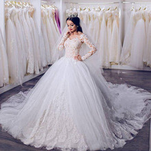 kejiadian Saudi Arabic A-line Wedding Dresses Long Sleeves