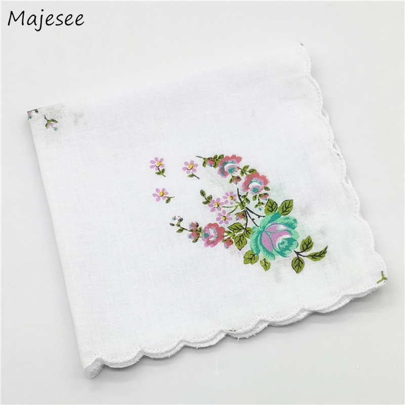 Handkerchiefs Women Lady Elegant Soft Simple Womens Square Handkerchief Floral Printing Colorful Leisure Daily Classic Female