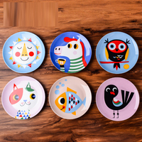8 inches Cartoon Fish Owl Fox tableware Round Dishes Saucer Fruit Tray children Plate Ceramic soup plates Porcelain steak dish
