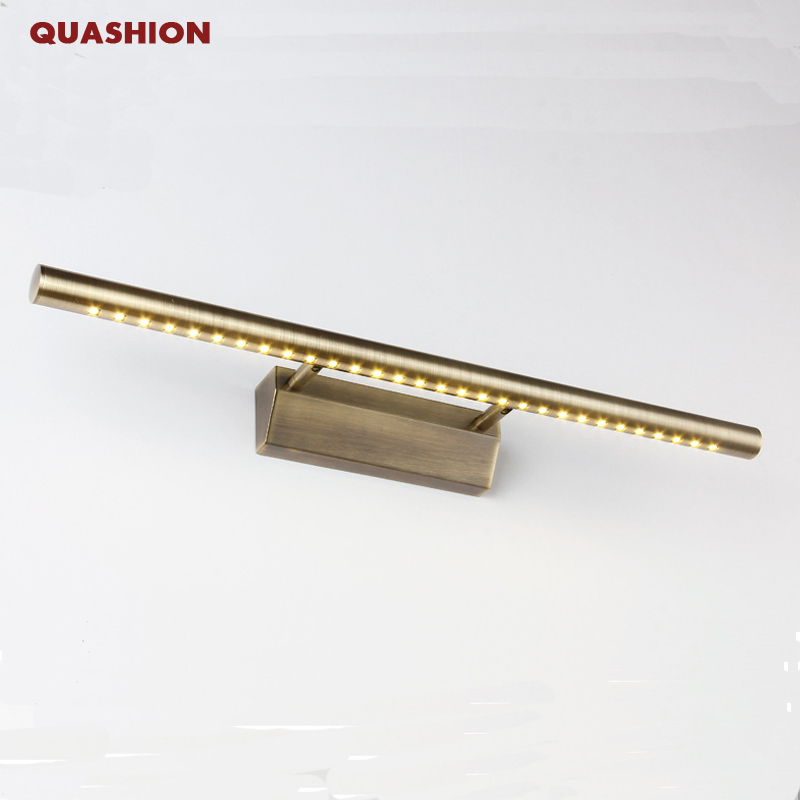 High Quality Modern Led Mirror Light Stainless Steel Bronze AC85-265V SMD5050 Led Bathroom Lamp Wall Mounted Indoor Light
