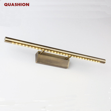 High Quality Modern led mirror light Stainless Steel Bronze AC85 265V SMD5050 led bathroom lamp wall mounted indoor light
