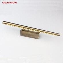 Yüksek Kaliteli Modern led ayna hafif paslanmaz çelik Bronz AC85 265V SMD5050 led banyo lambası duvara monte kapalı ışık