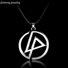 "Legendary Band ""Linkin Park"" Logo Necklace Band Group Logo Punk Silver Color Pendant Jewelry For Men And Women Free Delivery(China)"