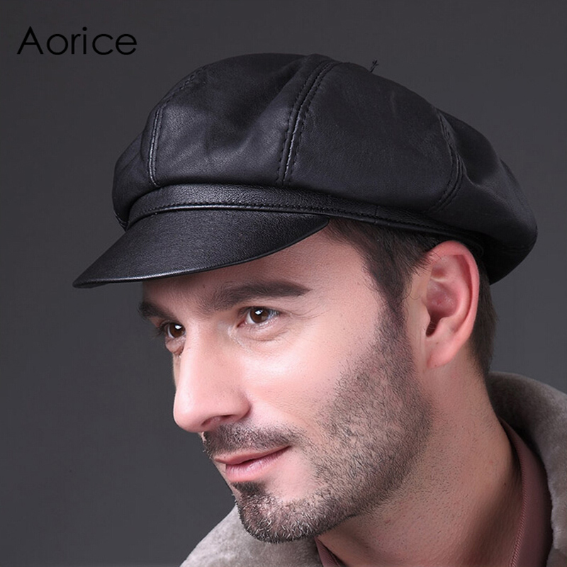 Aorice Free Shipping Genuine Leather Autumn Winter Man's News