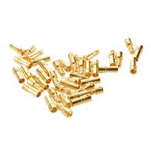 Professional Tools 20 pairs 3.5 mm Gold-plated Banana Plugs Engine Electronic Connectors
