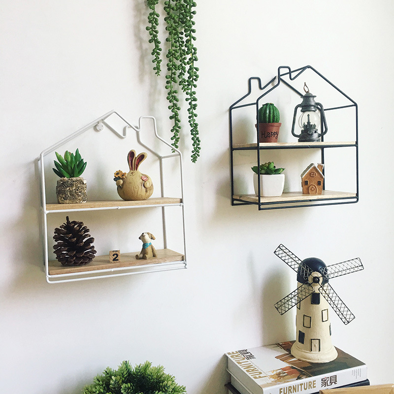 Aliexpress.com : Buy Wall Decoration Storage Shelf Vintage Metal Iron  Sundries Storage Rack Decorative Wall Shelves Organizador Flower Pot Holder  From ...