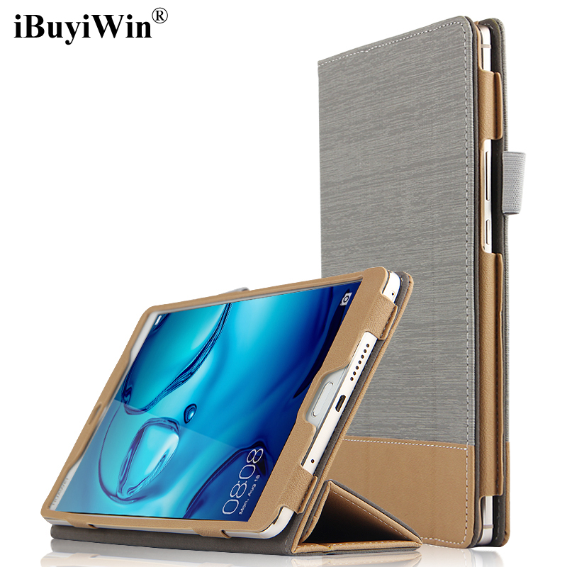 iBuyiWin Folding Stand Smart Cover PU Leather Case for Huawei MediaPad M3 8.4 BTV-W09 BTV-DL09 Tablet Funda+Screen Protector+Pen mediapad m3 lite 8 0 skin ultra slim cartoon stand pu leather case cover for huawei mediapad m3 lite 8 0 cpn w09 cpn al00 8