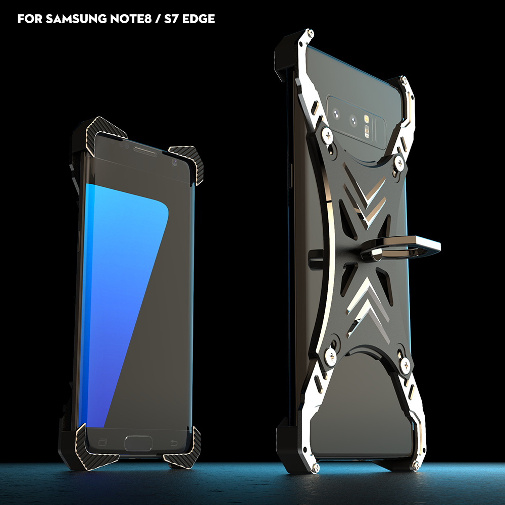 R JUST for SAMSUNG Galaxy Note8 & S7 edge case SOUL CALIBUR heavy duty case for SAMSUNG Note8 & S7 edge metal mobile shell