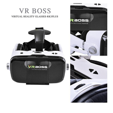 New VR BOSS Z5 VR 3D Glasses Virtual Reality VR With Microphone and Headset Google Cardboard + Bluetooth Remote Controller