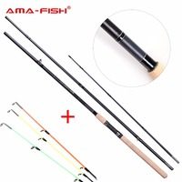 AMA Fish 100 Original Brand Spinning Rod 3 9m 3 3 Sections Carbon Rods Lure Weight