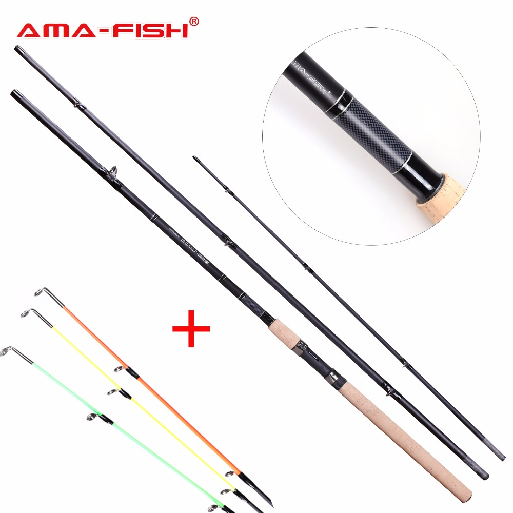 AMA-Fish 100% Original Brand Spinning Rod 3.9m 3+3 Sections Carbon Rods Lure Weight Up To 150g Spinning Fishing Rod High Quality fish hunter 2 44m best quality 2 sections casting lure rod high carbon china made fishing rods fishing tackle
