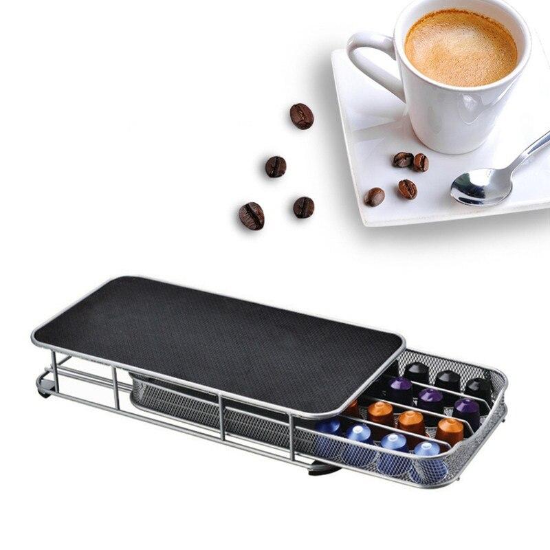 2019 Nespresso Coffee Pods Holder Rotating Rack Coffee Capsule Stand Nespresso Capsules Storage Shelve Organization Holder Sets