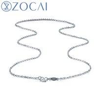 ZOCAI реальных твердых платины PT950 ожерелье O форма звено цепи ожерелье 40 45 см x00310