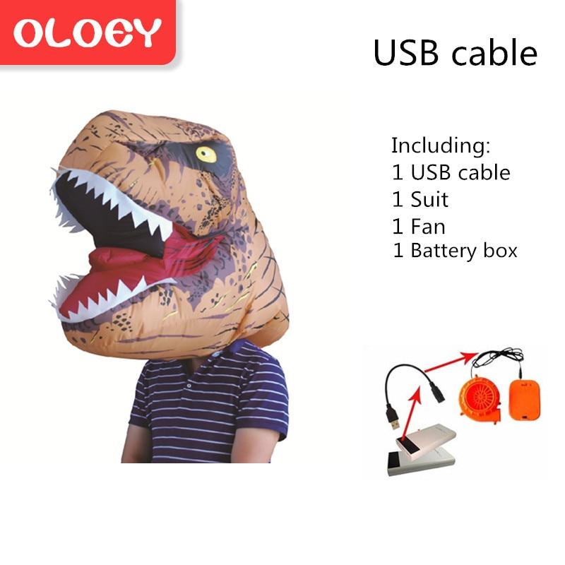 Radient Oloey Aufblasbare Kostüm Erwachsene Kinder Dinosaurier T Rex Kostüme Cosplay Cartoon Blow Up Phantasie Kleid Maskottchen Purim Overall # Trex003