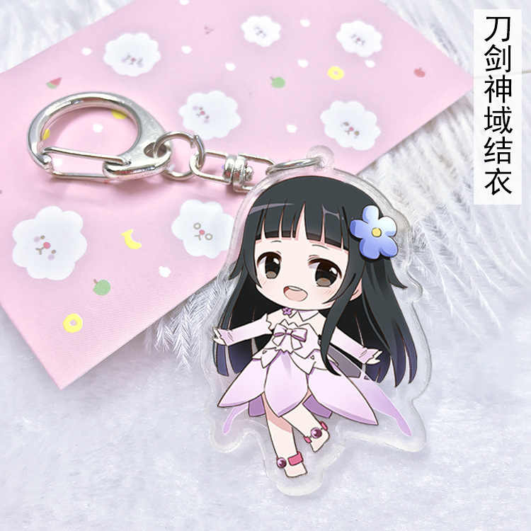 Anime Sword Art Online Cosplay Gantungan Kunci Kartun Jepang Sao Harjo Krito Acrylic Mobil Gantungan Kunci Rantai Liontin Gantungan Kunci