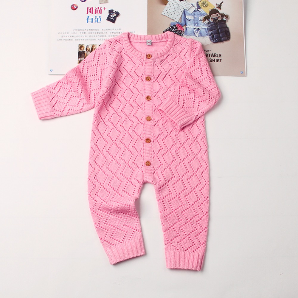 Knitting Pattern Overalls For Newborns Spring Clothes Summer Hollow Out Baby Boys Girls Rompers Long Sleeve Jumpsuits One Piece mother nest 3sets lot wholesale autumn toddle girl long sleeve baby clothing one piece boys baby pajamas infant clothes rompers