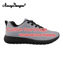 Noisydesigns 3D Custom your Image Men Running Shoes Lace-up Casual Shoes Custom Male Sports Outdoor Women Walking Sneakers Shoes