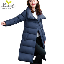 Top Quality 90% White Duck Down Warm Parkers 2016 Snow Winter Jackets Women's Long Section Bread Style Down Overcoat
