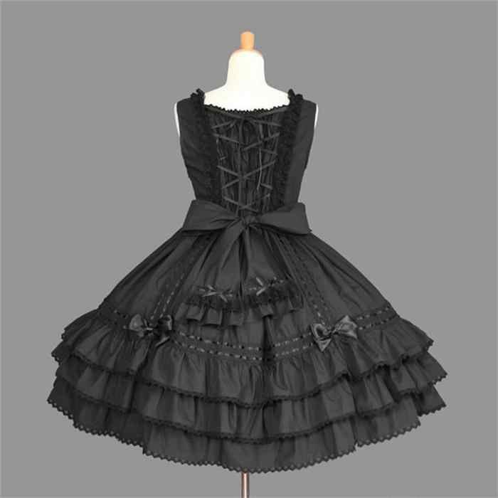 แฟชั่นน่ารักสีดำสีขาว Lolita ชุดประสิทธิภาพเครื่องแต่งกายแม่บ้านญี่ปุ่นกะลาสีสาวการ์ตูนชุดคอสเพลย์ฮาโลวีน