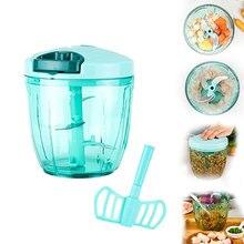 SKYMEN Manual Food Processor Chopper Blender Slicer Safe Free Durable Portable Kitchen Household Vegetables Fruit Meat Processor