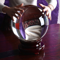 Stock In USA Warehouse Large Quartz Crystal Ball 260mm Wedding Venue Table Decorations Christmas Gifts