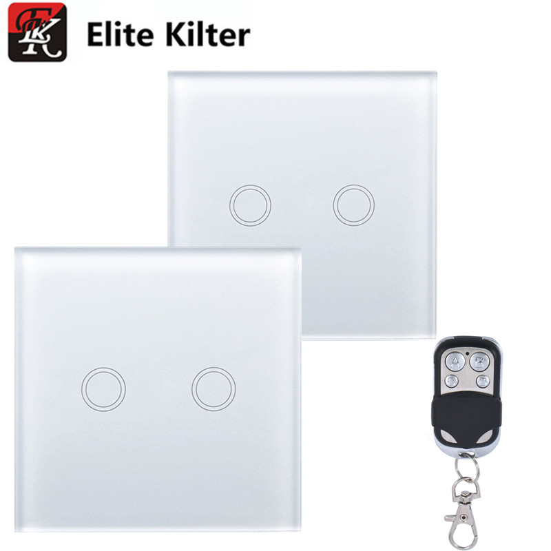 Elite Kilter EU/UK Standard 2 Gang 2 Ways Touch Switch Single FireWire With Small Controller sport elite se 2450