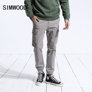 Image 2 - SIMWOOD New 2020 spring Pants Men Fashion Slim Ankle Length Joggers Pants Male Brand Casual Trousers Free Shipping 180488
