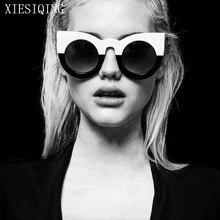 2019 New Cute Sexy Retro Cat Eye Sunglasses Women Black White Triangle Vintage