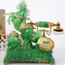 The new European antique telephone landline household fixed a vintage