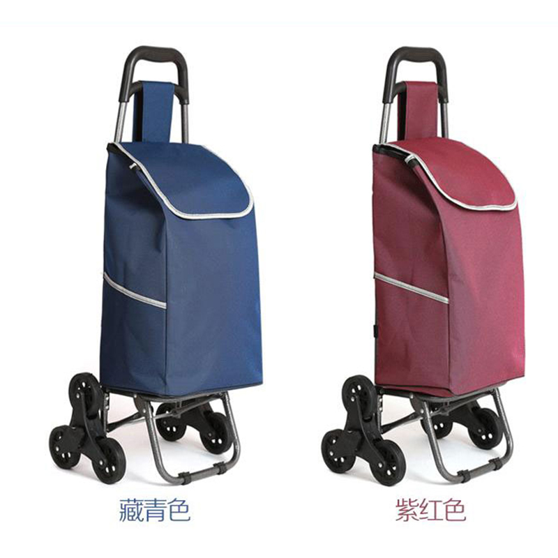 Three-wheeled folding cart lady or old shopping cart shopping cart hand puller trolley l ...