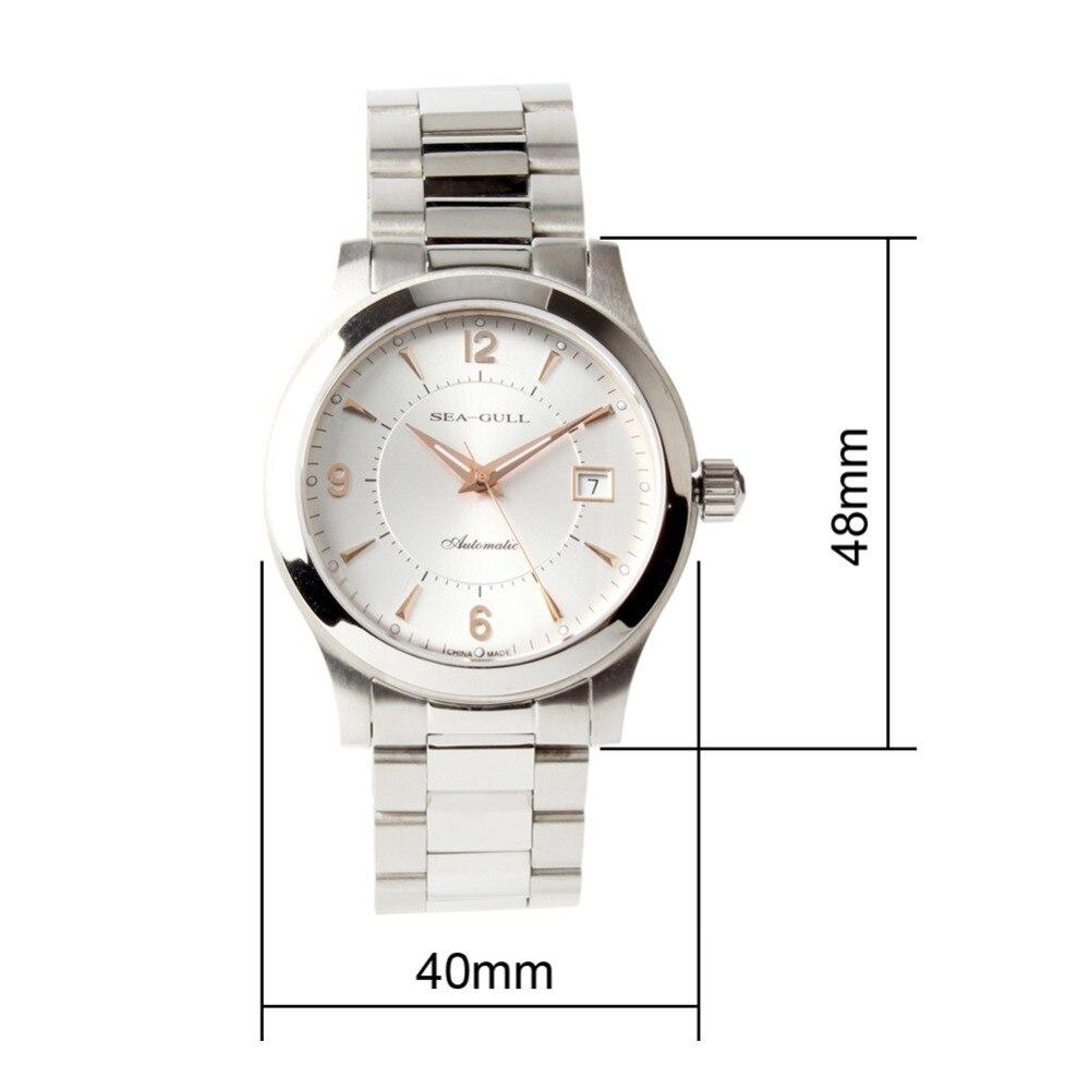 Mewa różowe złoto wskazówki nakręcanie wystawa powrót ST2130 ruch automatyczny męski zegarek biznesowy 816.351 w Zegarki mechaniczne od Zegarki na  Grupa 2