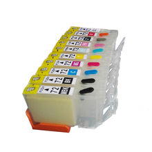 vilaxh PGI-72 PGI72 Refillable Ink Cartridge For Canon PGI 72 PIXMA PRO-10 PRO10 Printer With one time chip