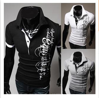 Neuen Männer Polo Kurzarm Print Camisa Polo Taste Beiläufiger Normal Plus Größe Dünnes Polohemd, M/l/xl/xxl/xxxl Erfrischend Und Wohltuend FüR Die Augen
