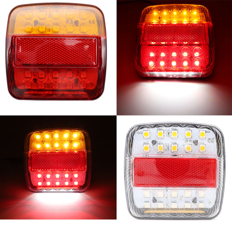 2x 30 LED Waterproof 2W Tail Rear Light Lamp Red//Yellow for Trailer Truck Boat R TOOGOO