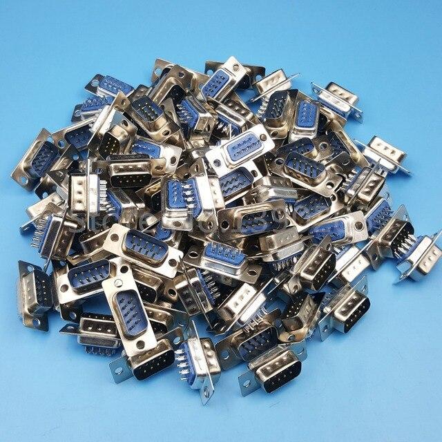 100 Pz D-SUB DB9 Maschio RS232 Porta Seriale 2 Row Pin Wire Solder Tipo di Connettore