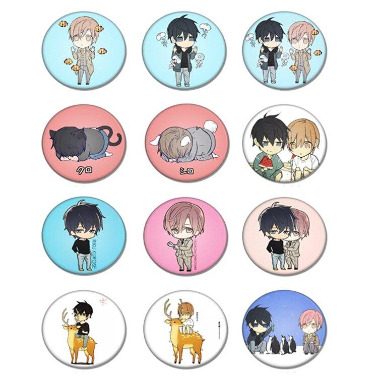 1pcs Fujoshi BL 10 Count Ten Count Tadaomi Shirotani Kurose RIKU Brooch yaoi fan Badge Pins Bag Packbag Clothing Patch Pin
